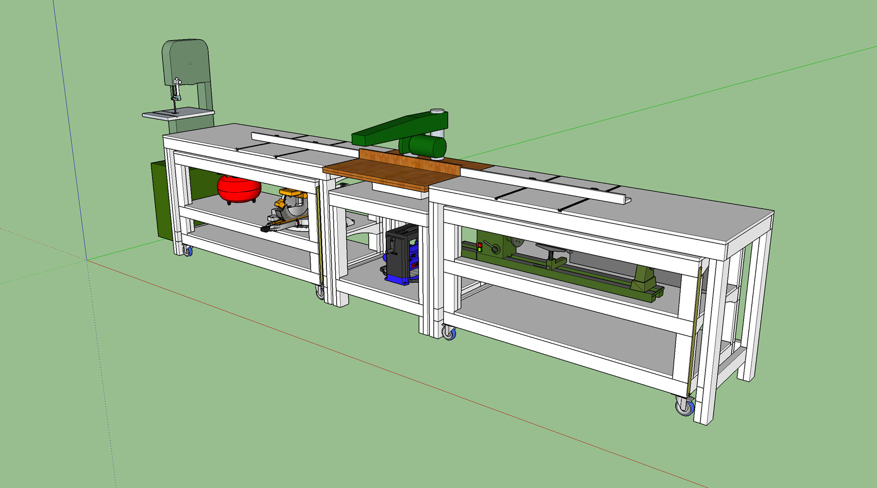 Workbench Plans Tommys Rolling And Miter Saw