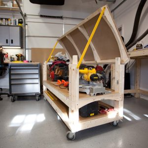 Tommy's Rolling Workbench Open