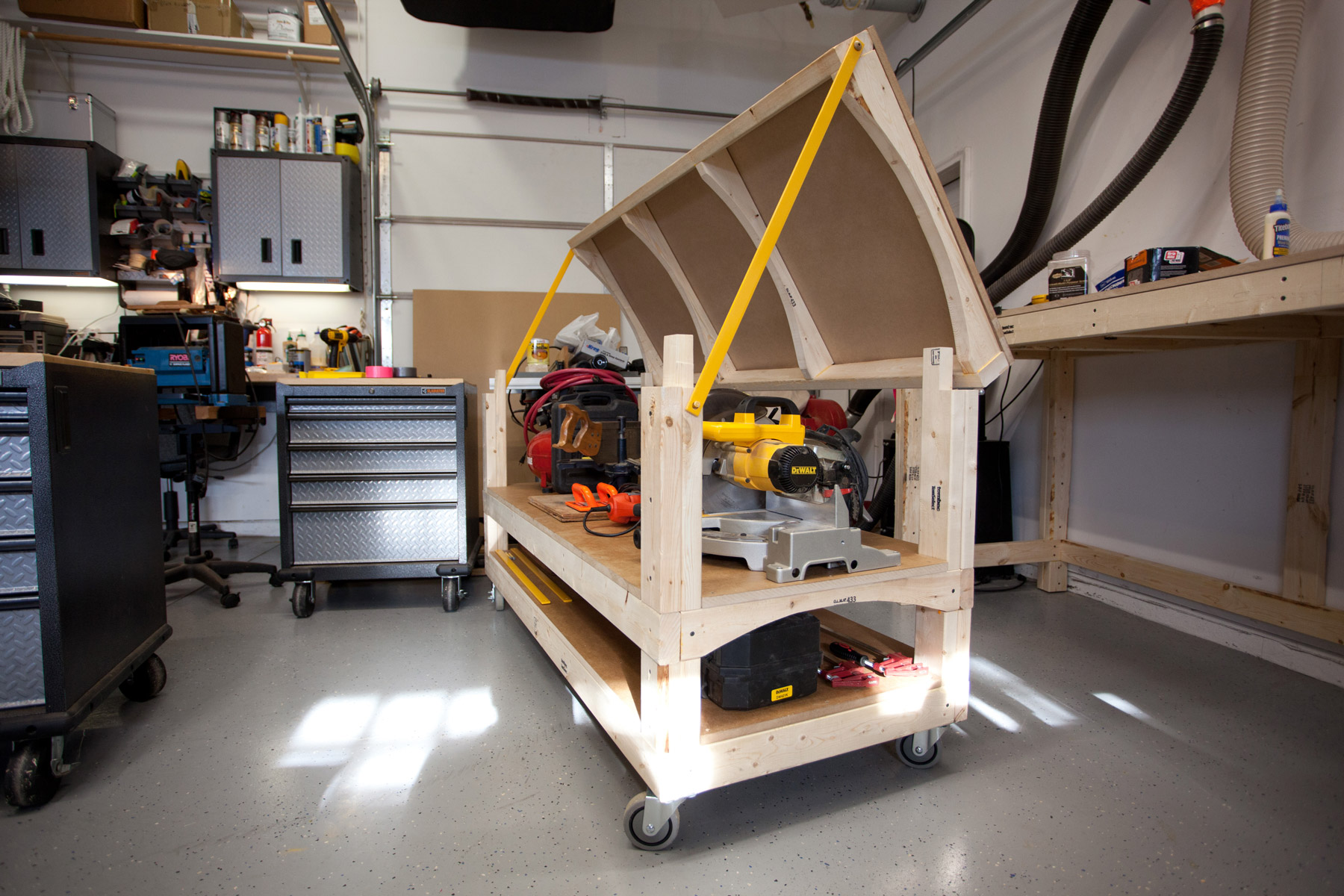 Workbench Plans - Tommy's Rolling Workbench and Miter Saw ...