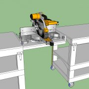 Tommy's Rolling Workbench with Chop Saw Bridge