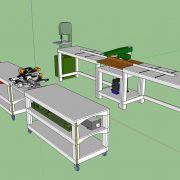 Tommy's Rolling Workbench with Miter Station Chop Saw Bridge