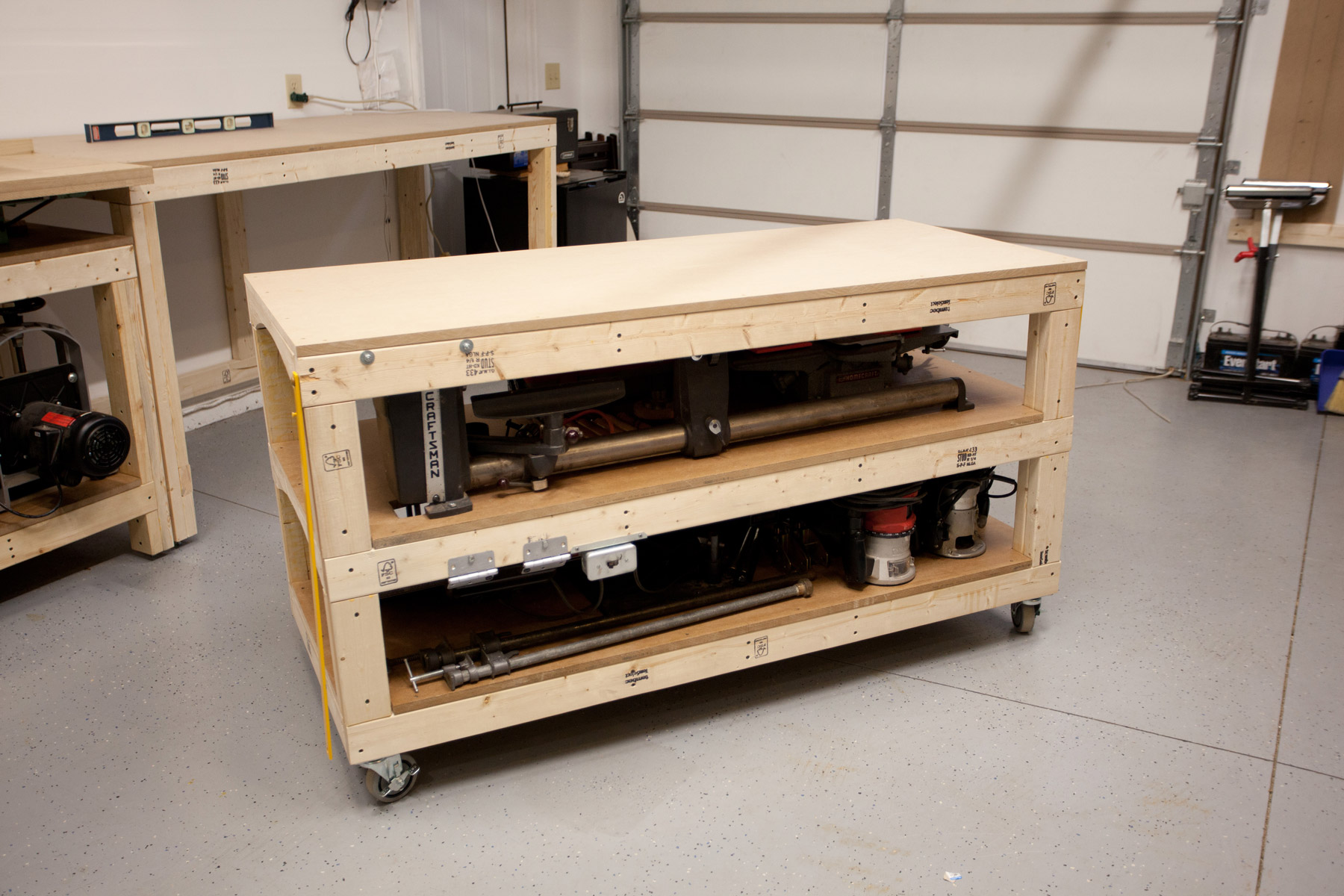 Workbench Plans Tommy 39 S Rolling Workbench And Miter Saw