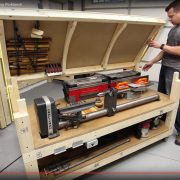 Tommy's Rolling Workbench with Lathe and Jointer